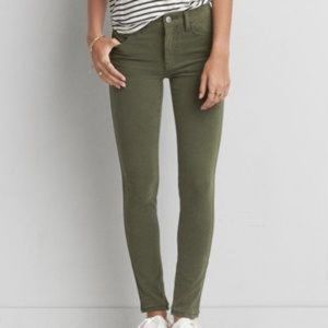 AMERICAN EAGLE OLIVE GREEN HIGH RISE JEGGINGS